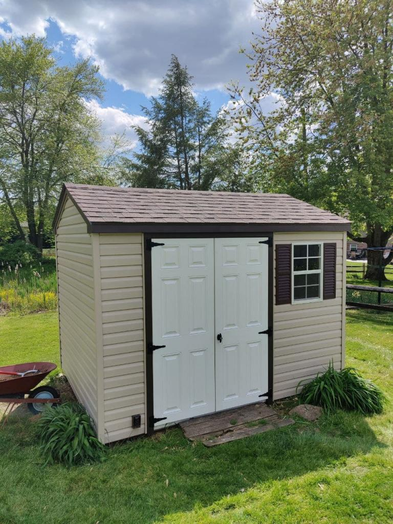 Repaired shed in stevens pa