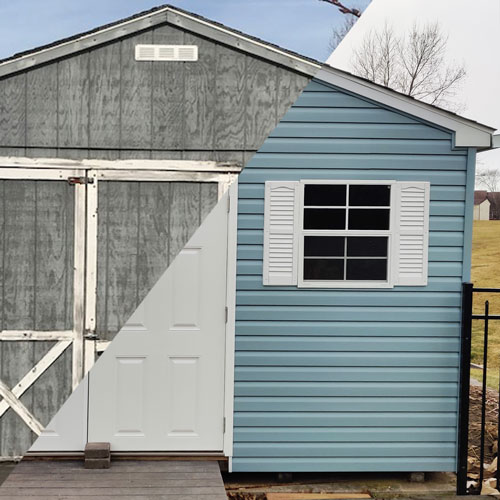 Upgrade A Shed To Vinyl Siding